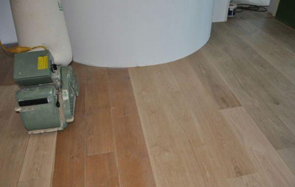 Houten vloer renovatie