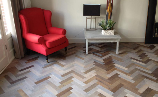 Zevenkleuren eiken hout visgraat vloer amsterdam 2 timber wooden
